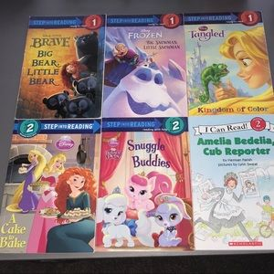 Step Into Reading Level 1&2 Books Set of 6